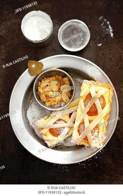 Apricot quark cake