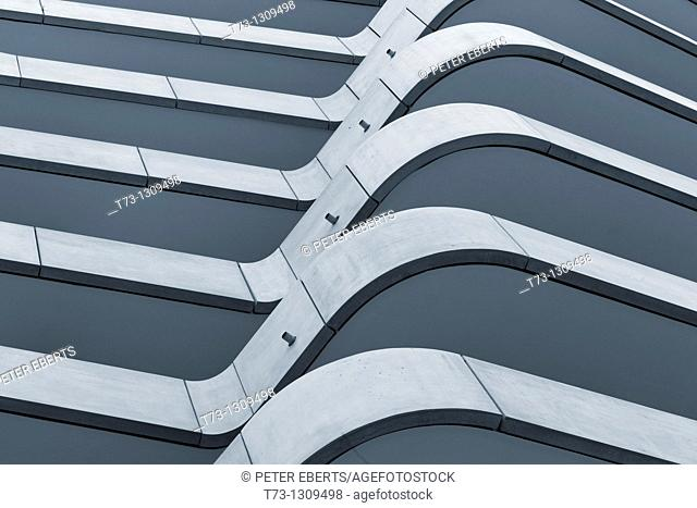 Architectural detail, Marco Polo Tower, Hamburg, Germany