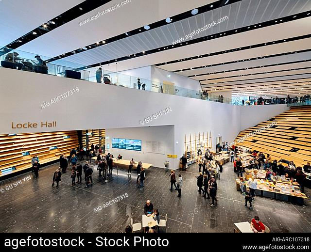 Interior view of the V&A Dundee by Japanese architect Kengo Kuma, a design museum on the waterfront of Dundee, Scotland, UK