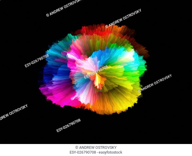 Color Explosion series. Interplay of vivid streaks on the subject of design, art and imagination