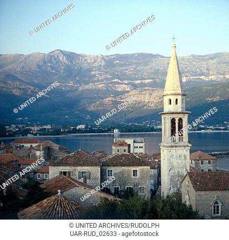 Urlaub in Budva in Montenegro, Dalmatien, Jugoslawien 1970er Jahre. Vacation Budva in Montenegro, Dalmatia, Yugoslavia 1970s
