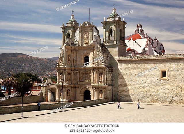 View to the Basilica Menor De Nuestra Senora De La Soledad, Oaxaca, Oaxaca State, Mexico Central America