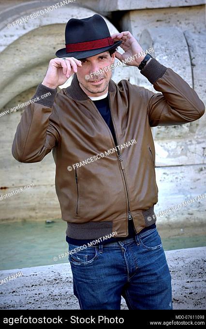 Italian actor Francesco Montanari the presentation of the film La volta buona. Rome (Italy), March 4th, 2020