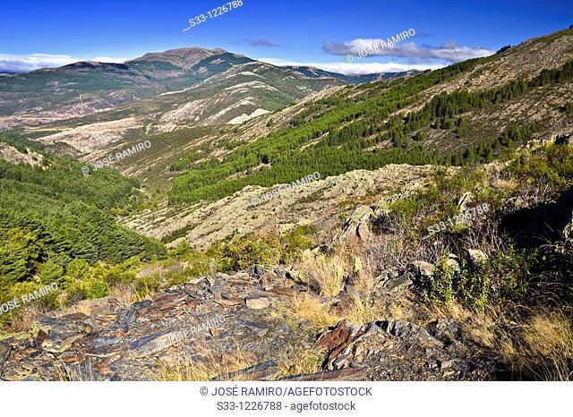 Peña La Cabra from the las Pinilla hill Sierra Norte Puebla de la Sierra Madrid Spain