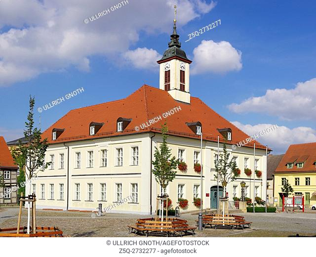 The townhall of Angermunde in Brandenburg, Germany