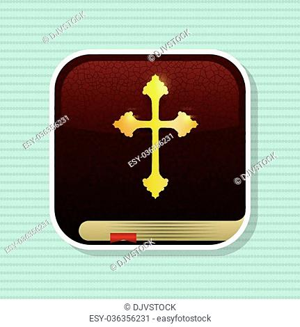 Holy bible concept with book icon design, vector illustration 10 eps graphic