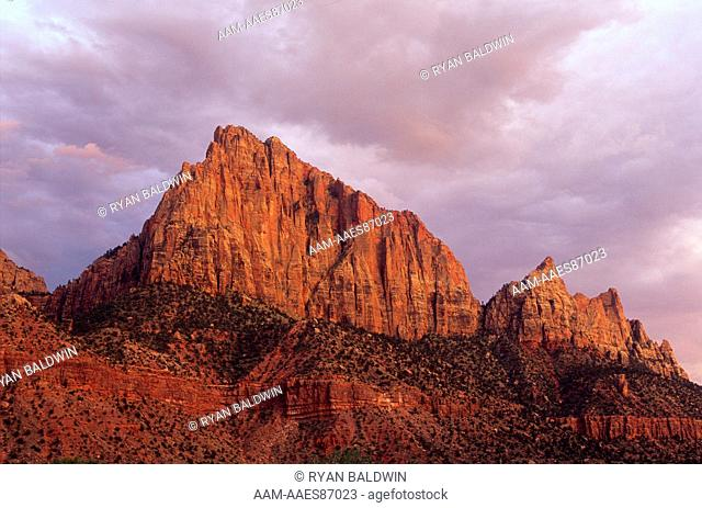 The Watchman (6,545 ft) Zion National Park, Utah (Non-exclusive)