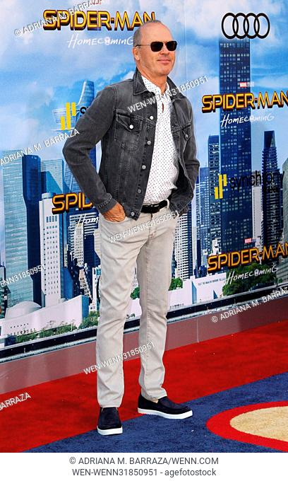 Los Angeles premiere of 'Spider-Man: Homecoming' held at the TCL Chinese Theatre - Arrivals Featuring: Michael Keaton Where: Los Angeles, California