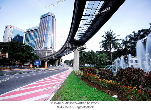 Buildings near Chinatown of Kuala Lumpur, Malaysia
