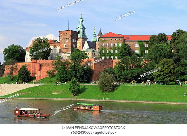Wawel Castle and Vistula River, Krakow, Poland