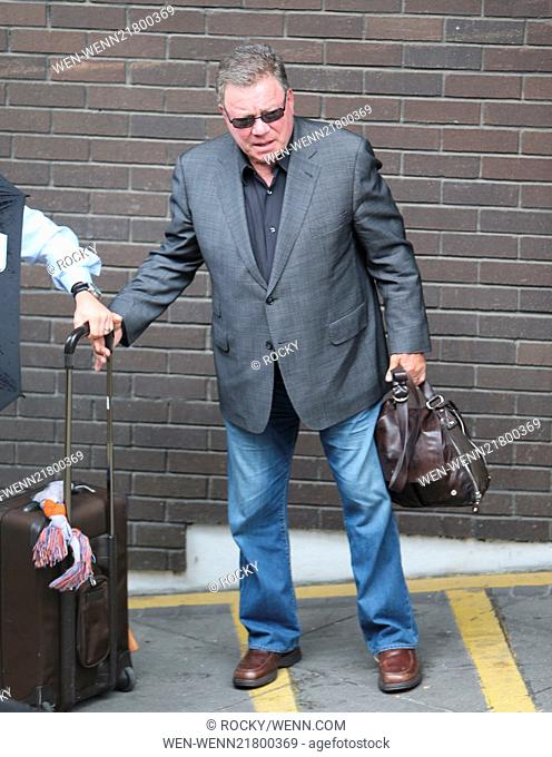 William Shatner outside ITV Studios Featuring: William Shatner Where: London, United Kingdom When: 06 Oct 2014 Credit: Rocky/WENN.com