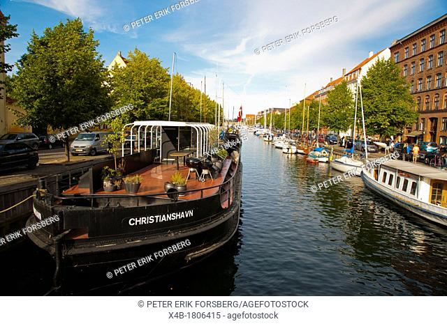 Christianshavnskanal canal Christianshavn district Copenhagen Denmark Europe