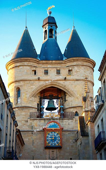 Grosse Cloche bell tower former St Eloi town gate, Bordeaux, Gironde, Aquitaine, France, Europe
