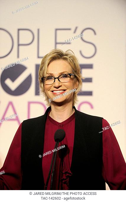Host Jane Lynch attends the People's Choice Awards 2016 Nominee Announcement at The Paley Center for Media on November 3rd, 2015 in Los Angeles, California