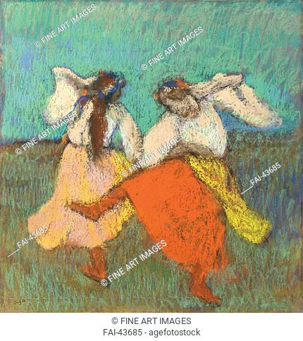 Russian Dancers (Danseuses Russes) by Degas, Edgar (1834-1917)/Pastel on paper/Impressionism/ca 1899/France/Private Collection/63x60, 8/Music, Dance