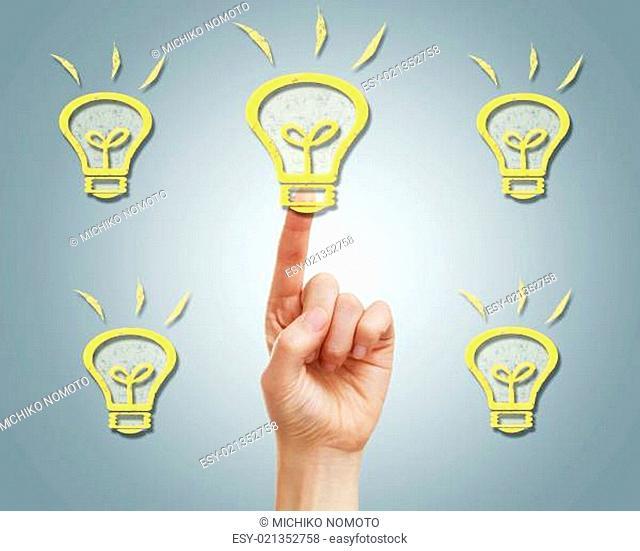 Light bulbs with finger
