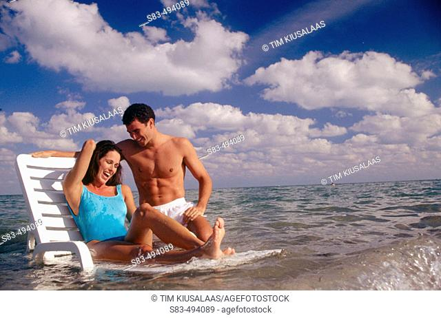 Couple at ocean