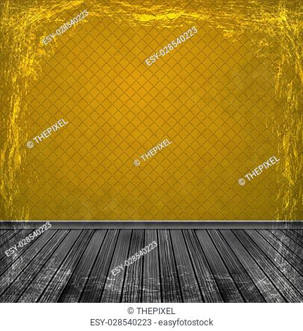 Orange grunge background. Old abstract vintage texture with frame and border