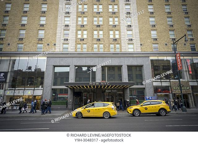 The Row NYC Hotel, formerly the Milford Plaza Hotel, on Eighth Avenue off of Times Square in New York on Sunday, February 5, 2018