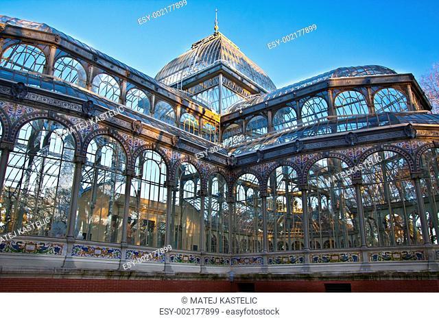 Palacio de Cristal in Retiro city park, Madrid