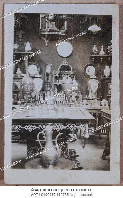 Photograph - E. Kartoun's Brass Bazaar, Egypt, Captain Edward Albert McKenna, World War I, 1914-1915, One of 139 photographs in an album from World War I likely...