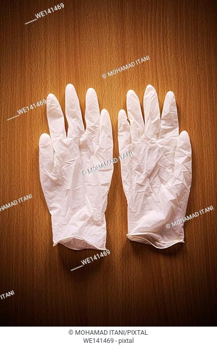 Two surgical gloves