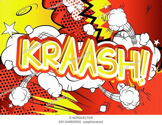 Kraash! - Vector illustrated comic book style expression