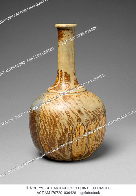 Vase soliflore, ca. 1889–94, French, Saint-Amand-en-Puisaye, Glazed stoneware, 10 3/4 x 6 5/16 in. (27.3 x 16 cm), Ceramics-Pottery