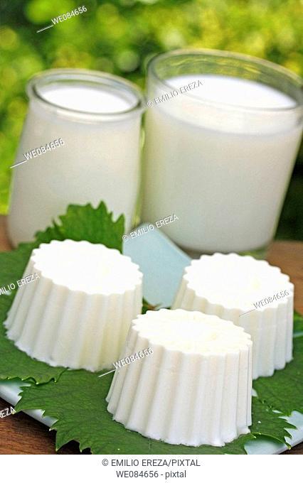 Fresh cheese and milk