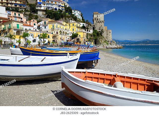 The fishing village of Cetara on the Amalfi Coast, Campania, Italy