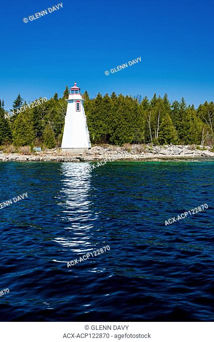 Lighthouse (1885) at Big Tub Harbour, Fathom Five National Marine Park, Tobermory, Ontario, Canada