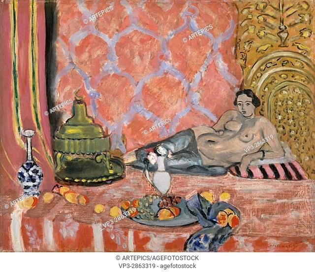 . Henri Matisse, . Odalisque avec un pantalon gris. 1927. Musée de l'Orangerie - Paris,
