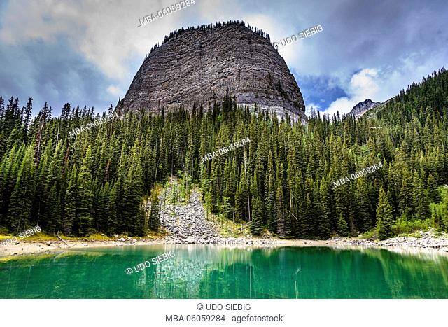 Canada, Alberta, Banff National Park, Lake Louise, Mirror Lake against Mount St. Piran