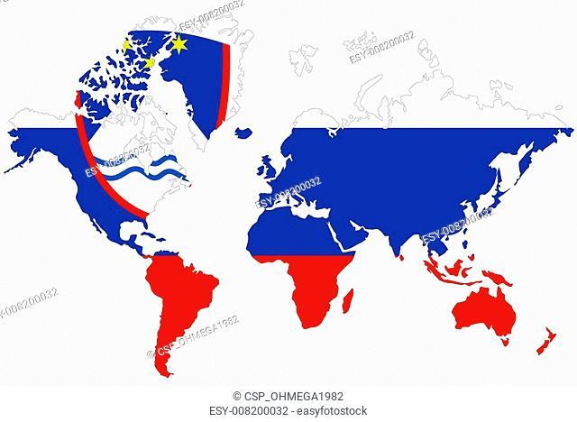 Slovenia map symbol with flag