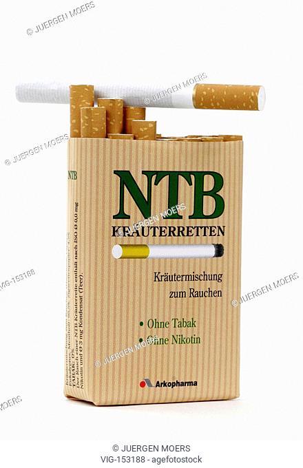 Zigaretten ntb Kräuterretten auf