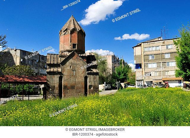 Small historic Armenian Orthodox church at downtown Yerevan, Jerewan, Armenia, Asia
