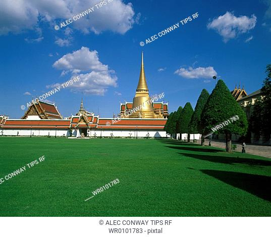 Asia, Thailand, Bangkok, Grand Palace, Temple Wat Phra Kaeo