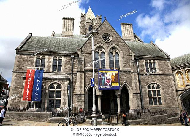 former synod house now dublinia museum and viking world exhibit at christchurch cathedral dublin republic of ireland