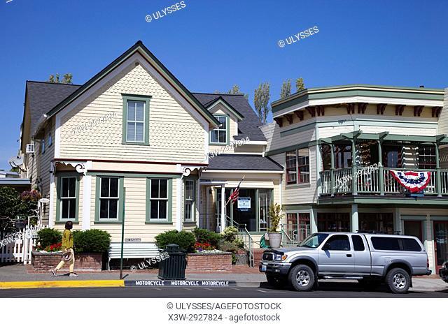 town of Friday Harbor, San Juan Island, archipelago of San Juan Islands, State of Washington, USA, America