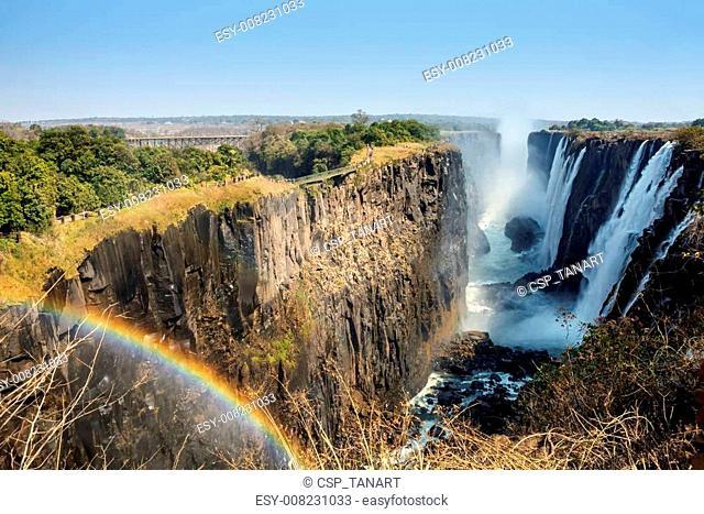 Victoria Falls and Victoria Falls Bridge