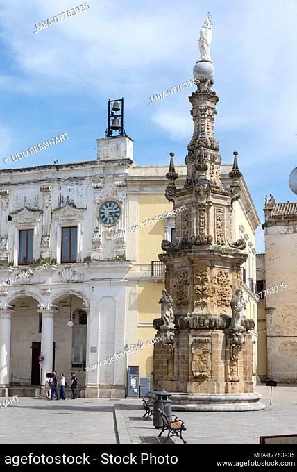 Italien, Mezzogiorno, Apulien / Puglia, Halbinsel Salento, Nardò, Piazza Salandra