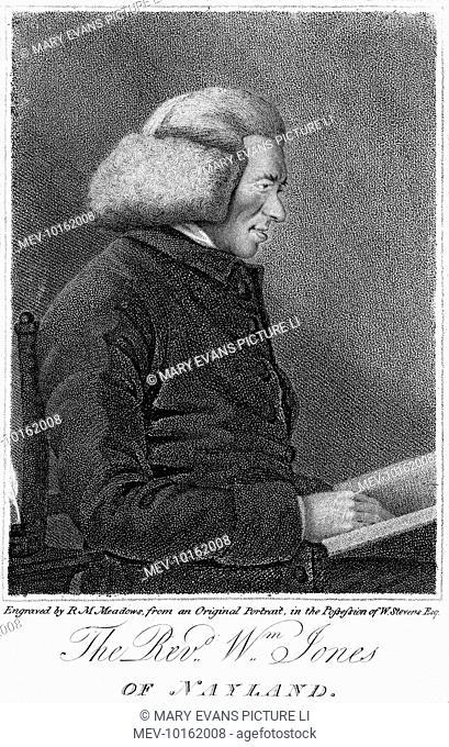 WILLIAM JONES English churchman, vicar of Nayland, Suffolk, and theological writer