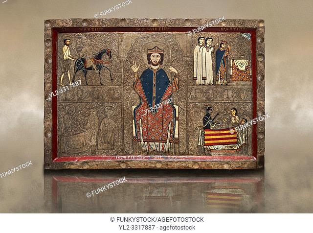 Romanesque painted Gia altar front. . Second quarter of the thirteenth century from the church of Santa Maria Gia and Xia, High Ribagorca, Huesca, Spain