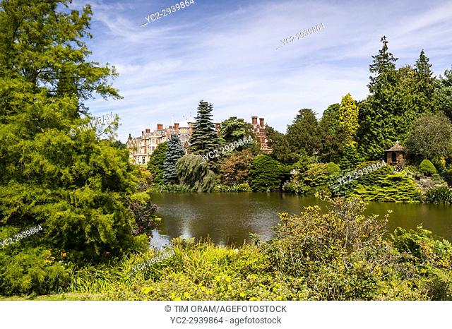 Sandringham House at Sandringham Estate in Norfolk , England , Britain , Uk