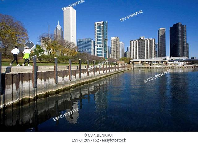 Morning Jogging in Chicago