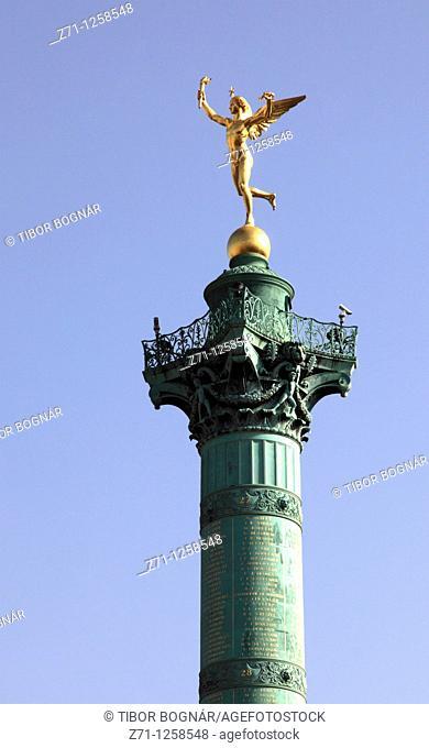 France, Paris, Place de la Bastille, Colonne de Juillet