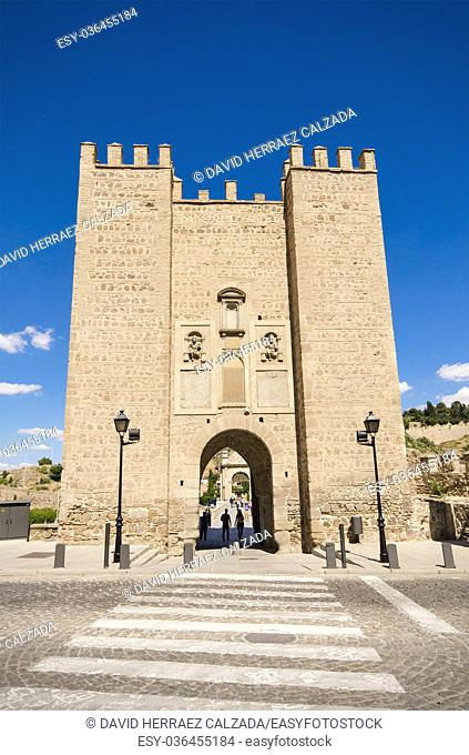 Ancient medieval gate on May 24, 2015 in Toledo, Spain