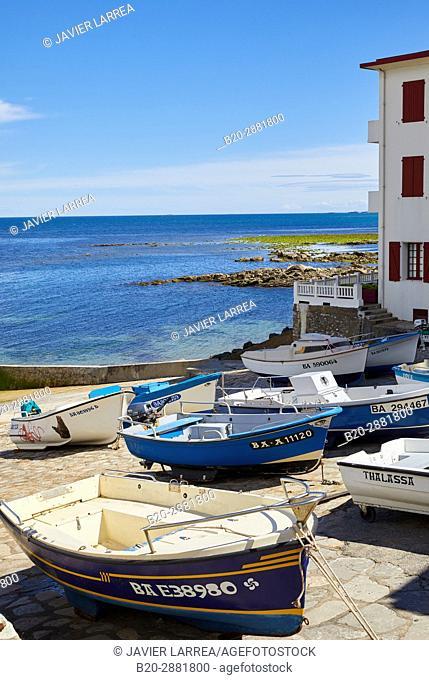 Port, Guéthary, Aquitaine, Pyrenees Atlantiques, France