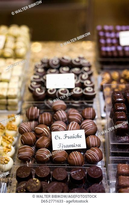 Belgium, Bruges, Belgian Chocolates shop, chocolates