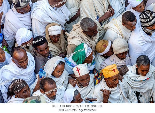 Crowds Of Pilgrims In Lalibela For The Christmas Celebrations, Lalibela, Ethiopia